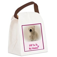 Will you be my Valentine? Canvas Lunch Bag