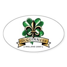 McGuinness Oval Decal