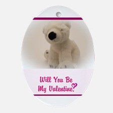 Will you be my Valentine? Ornament (Oval)