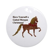 Gaited Morgan Christmas Round Ornament