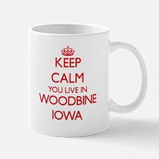 Keep calm you live in Woodbine Iowa Mugs