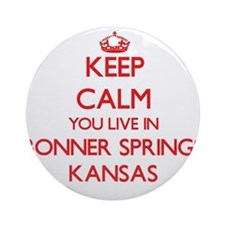 Keep calm you live in Bonner Spri Ornament (Round)