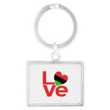 African American LOVE Keychains