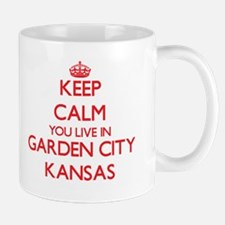Keep calm you live in Garden City Kansas Mugs