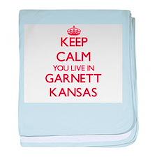 Keep calm you live in Garnett Kansas baby blanket