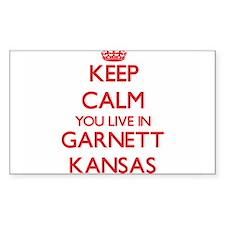 Keep calm you live in Garnett Kansas Decal