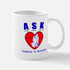 ASK SEEK KNOCK Mug