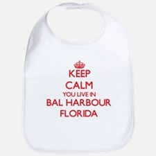 Keep calm you live in Bal Harbour Florida Bib