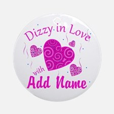 Dizzy Love Ornament (Round)