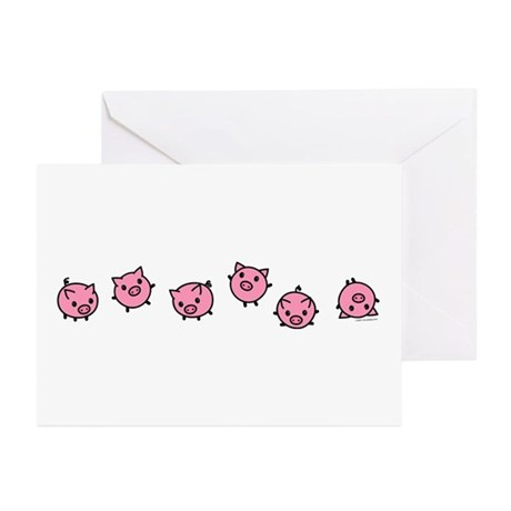 Playful Pigs Greeting Cards (Pk of 10)