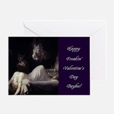 Happy Freakin' Valentine's Day Greeting Cards