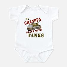 Grandpa Plays with Tanks Infant Bodysuit