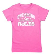 Unique Swimming girl Girl's Tee