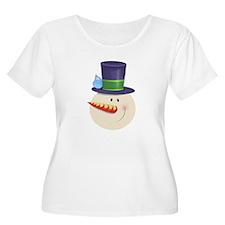 Snowman Face Plus Size T-Shirt