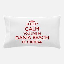 Keep calm you live in Dania Beach Flor Pillow Case
