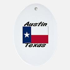 Austin Texas Oval Ornament