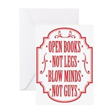 Open Books Not Legs Greeting Cards
