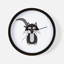 Cute Cartoon Cat Wall Clock