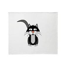 Cute Cartoon Cat Throw Blanket
