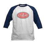 Cuba Oval Pink Kids Baseball Jersey