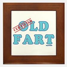 Certified Old Fart Framed Tile