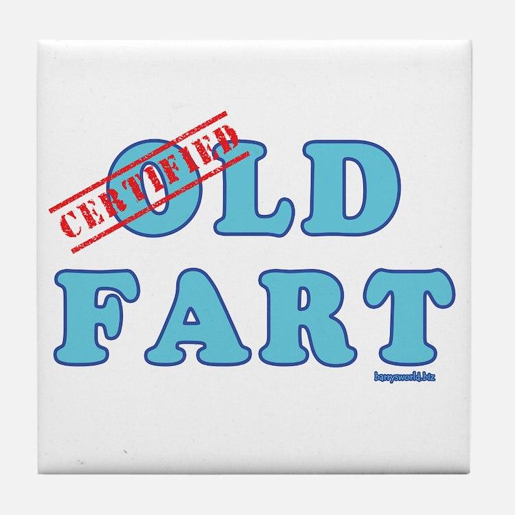 Certified Old Fart Tile Coaster