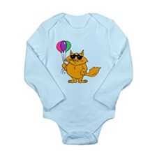 Cat With Balloons Body Suit