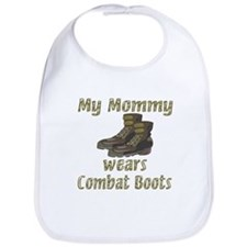 My Mommy Wears Combat Boots Bib
