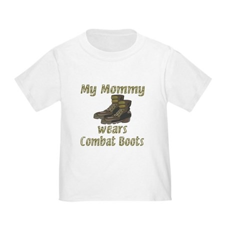 my mommy wears combat boots toddler tshirt cafepresscom