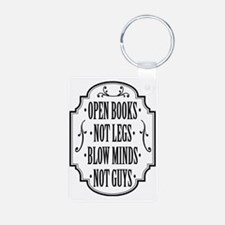 Open Books Not Legs Keychains