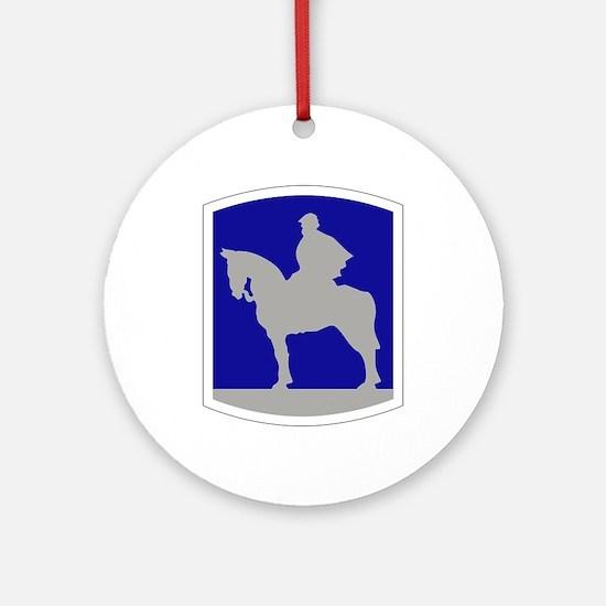 116th Infantry Brigade Combat Tea Ornament (Round)