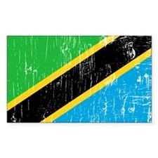 Vintage Tanzania Rectangle Decal
