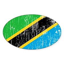 Vintage Tanzania Oval Decal
