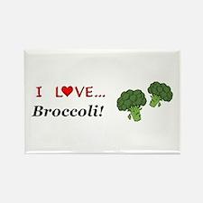I Love Broccoli Rectangle Magnet