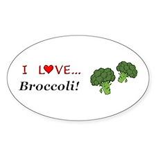 I Love Broccoli Decal