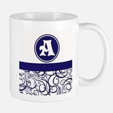 Purple Personalized Monogram Initial Mugs