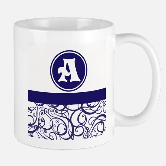 Purple Personalized Monogram Initial Mugs