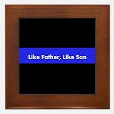 Like Father Like Son Framed Tile