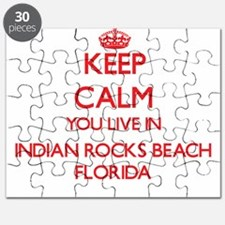 Keep calm you live in Indian Rocks Beach Fl Puzzle