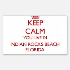 Keep calm you live in Indian Rocks Beach F Decal