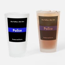Police Like Father Like Son Drinking Glass