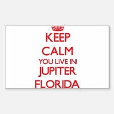 Keep calm you live in Jupiter Florida Decal