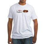I Love Waffles Fitted T-Shirt