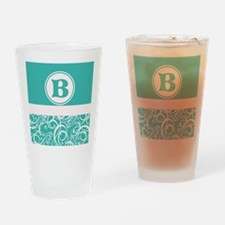 Blue Personalized Monogram Initial Drinking Glass