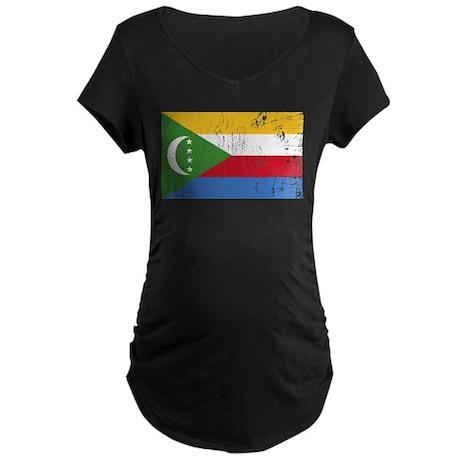 Vintage Comoros Maternity Dark T-Shirt
