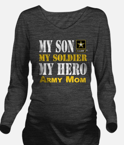 Cute Soldiers moms Long Sleeve Maternity T-Shirt