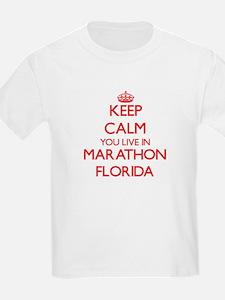 Keep calm you live in Marathon Florida T-Shirt