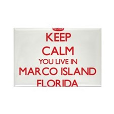 Keep calm you live in Marco Island Florida Magnets