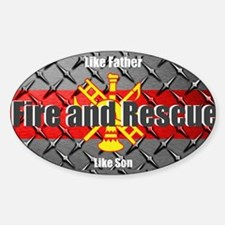 Firefighter like father like son Decal