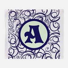 Purple Personalized Monogram Initial Throw Blanket